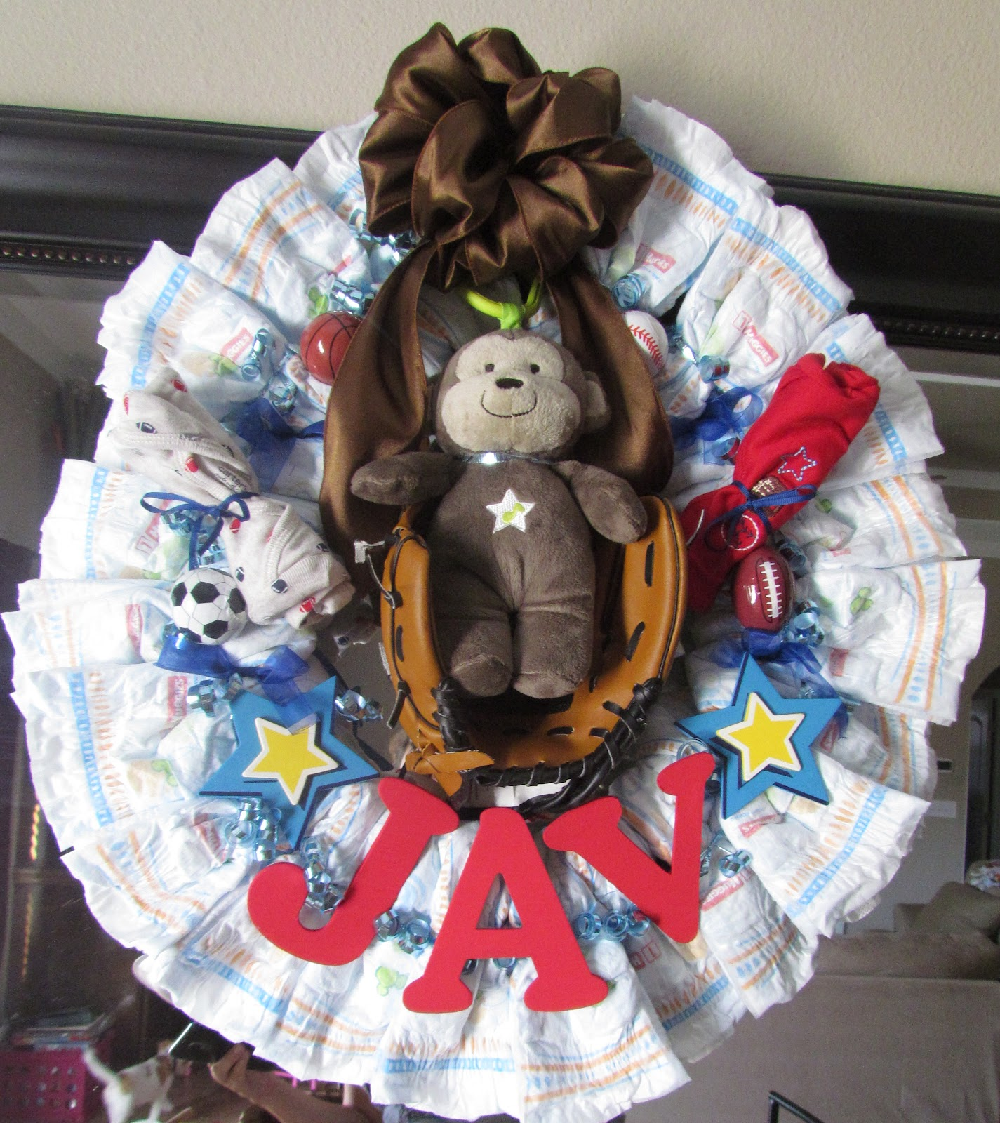 Baby Shower Wreath Instructions: One Good Thing : How To Make A Diaper Wreath