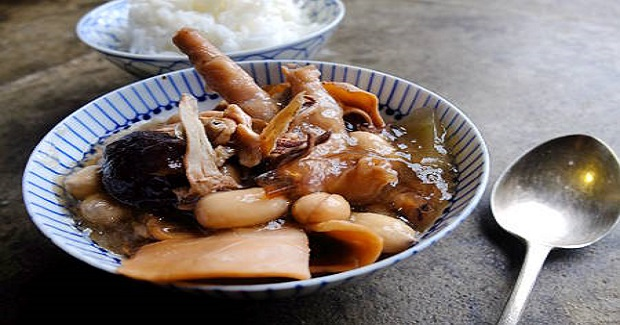 Chicken Feet Soup With Peanuts And Black-Eyed Beans Recipe