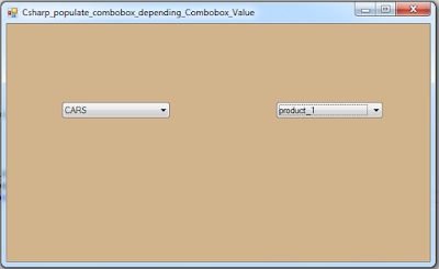 Populate Combobox Depending On Another Combobox In C#
