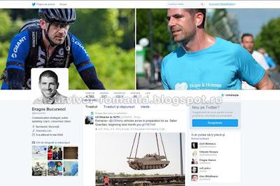 Profilul oficial al lui Dragoș Bucurenci de pe Twitter - @bucurenci