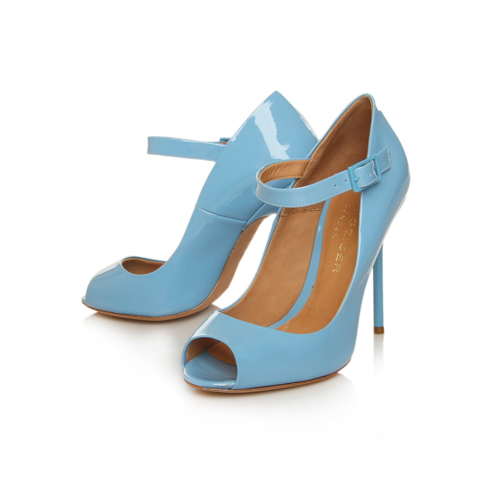kurt geiger sky blue class high heel shoes fashion detective