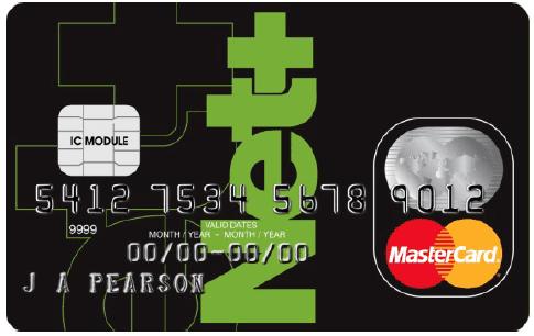 Tarjeta de crédito Net+ de Neteller
