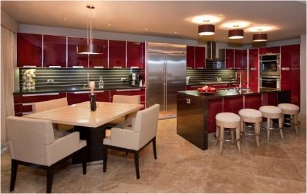 Cocinas Rojas Ideas - Colores en Casa