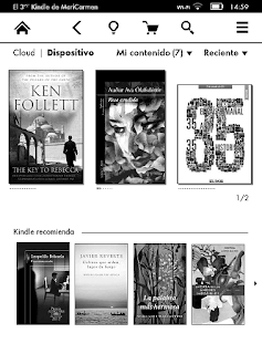 Menu kindle paperwhite