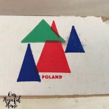 red blue triangle Christmas tree Poland