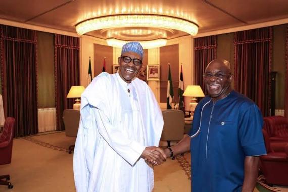 David Mark Visits President Buhari At The State House[Photos]