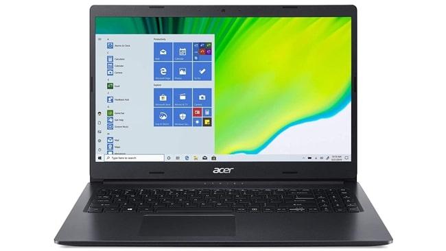 Acer Aspire 3 A315-57G laptop.