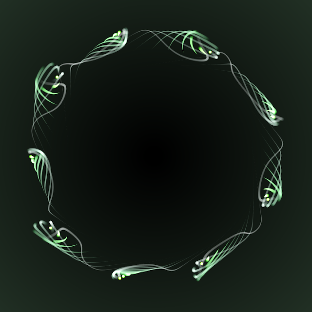 Generative art made with Gumowski-Mira's attractor.