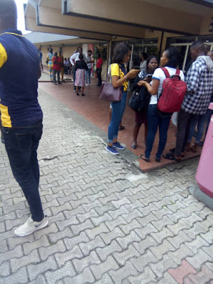 MTN Undergoes Fire Outbreak As Workers Suspend Work Indefinitely At Sabo, Yaba (PHOTOS)