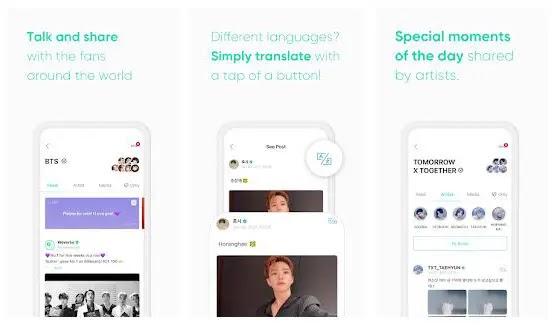 weverse, aplikasi penggemar idol kpop dari big hit entertainment