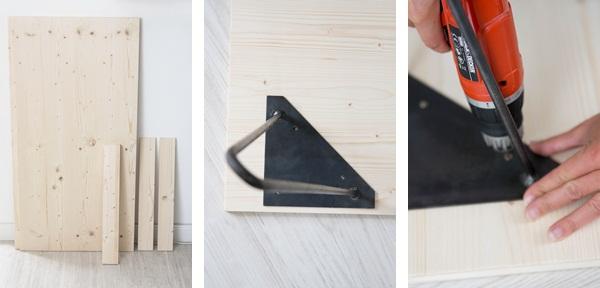 Material für DIY Tisch