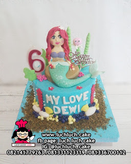 Mermaid Fondant Birthday Cake