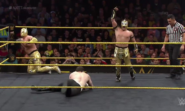 Jorge Arias and Emanuel Rodriguez in NXT Takeover: R Evolution (2014)