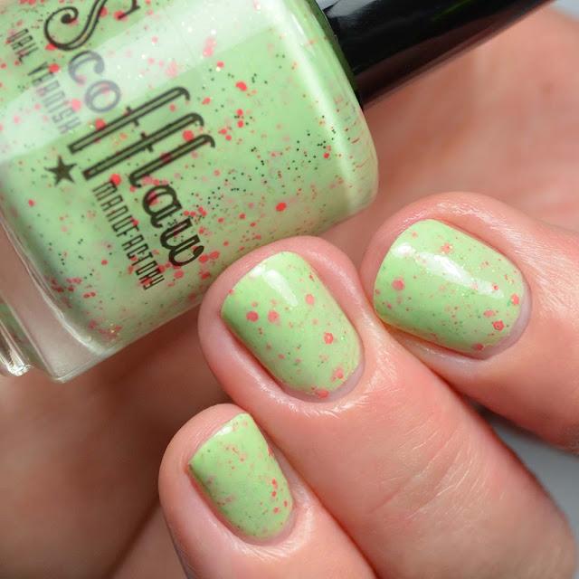 green crelly nail polish
