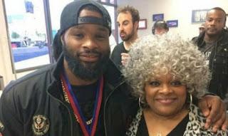 Tyron Woodley with his mom Deborah