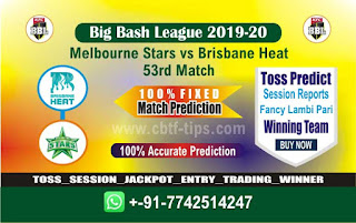 cricket prediction 100 win tips Star vs Brisbane