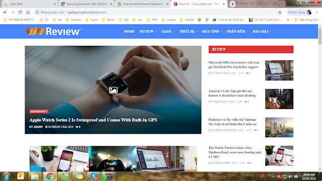 Fulll code wordpress reviews IT , theme Sạch , wordpress đẹp , load nhanh
