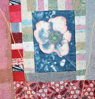 Japanese Anemone, by Sue Reno, detail 2
