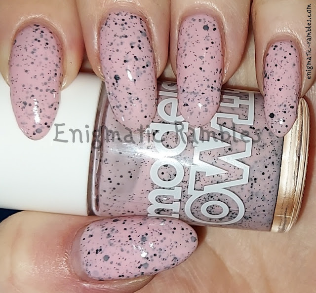 Nail Polish Swatch Models Own Dove Speckled Egg 2014 Collection