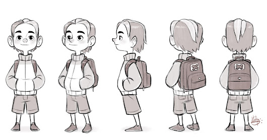 Cool Kid Turn Around sketch