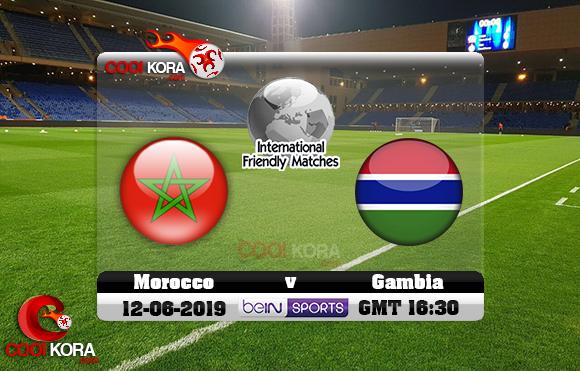 مشاهدة مباراة المغرب وغامبيا اليوم 12-6-2019 مباراة ودية