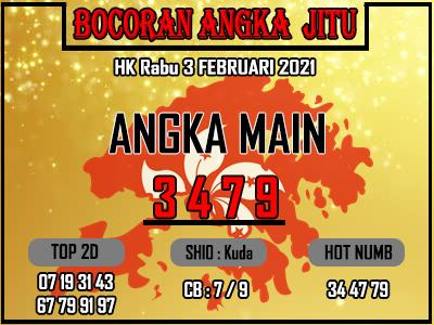 Bocoran HK 2D Rabu 3 Februari 2021