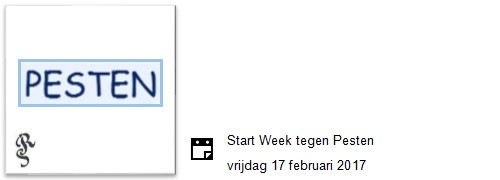 start week tegen pesten