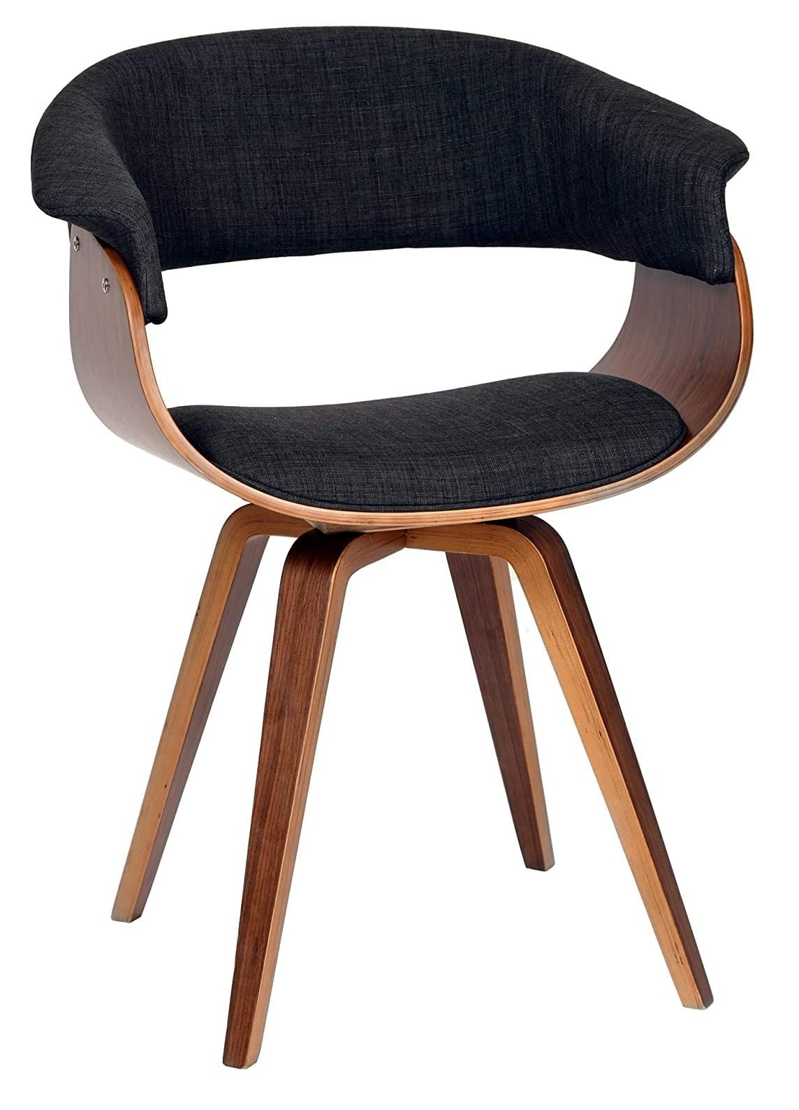Best favorit on 2021 Mid-Century Armen Minimalist livingroom contemporary Chair with charcoal fabric and Walnut wood finish