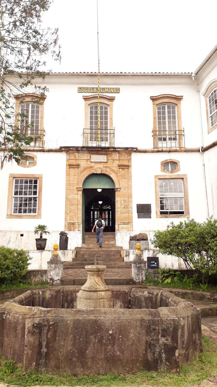 Entrada do Museu de Ciência e da Técnica da Escola de Minas da UFOP