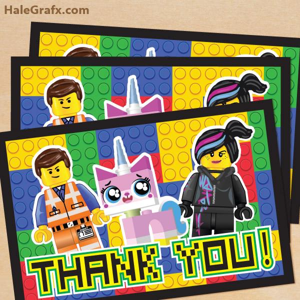 Película De Lego Invitaciones Y Tarjetas Para Imprimir