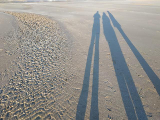 sombras en la arena