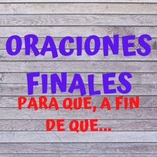 La oración final en español