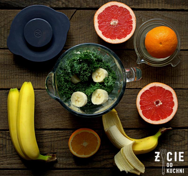 jak zrobic smoothie, skladniki na smoothie, chlorofil, jarmuz, zielone smoothie, zielony koktajl, zycie od kuchni