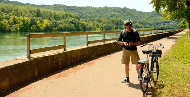 fietsen langs de Rhône, Rhône-Alpes, Via Rhona, ViaRhôna, cote rotie