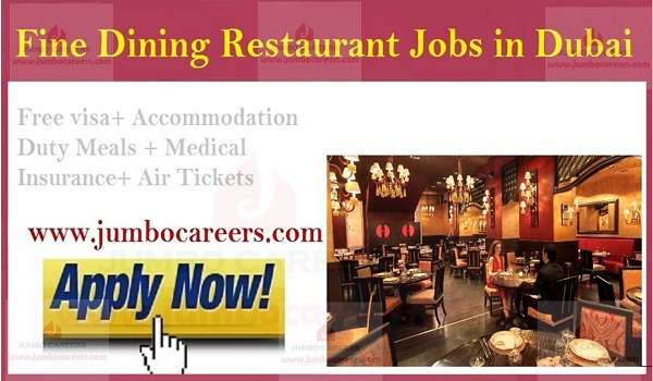 Current Restaurant jobs in Gulf countries, Dubai Job openings with salary,