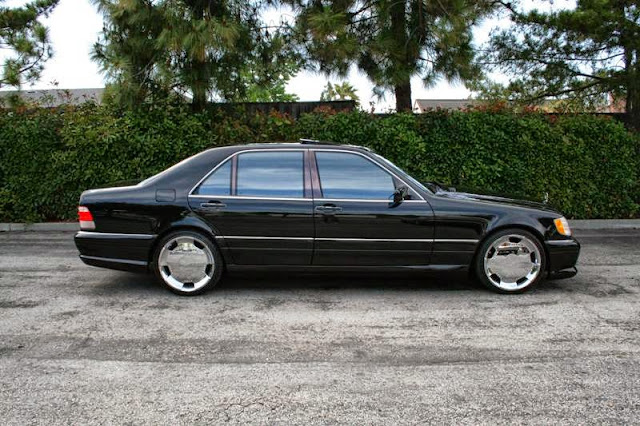 mercedes w140 chrome wheels