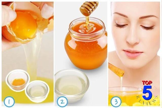 Làm mặt nạ trị mụn với lòng trắng trứng gà và mật ong