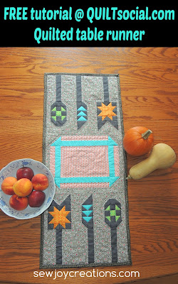 Tutorial - Quilted table runner
