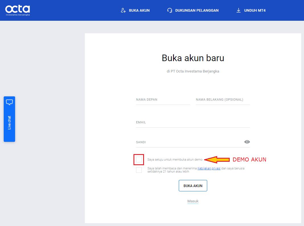 Cara Buka Akun Octa Investama Berjangka | Octa Indonesia