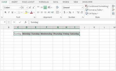 Custom List in Microsoft Excel