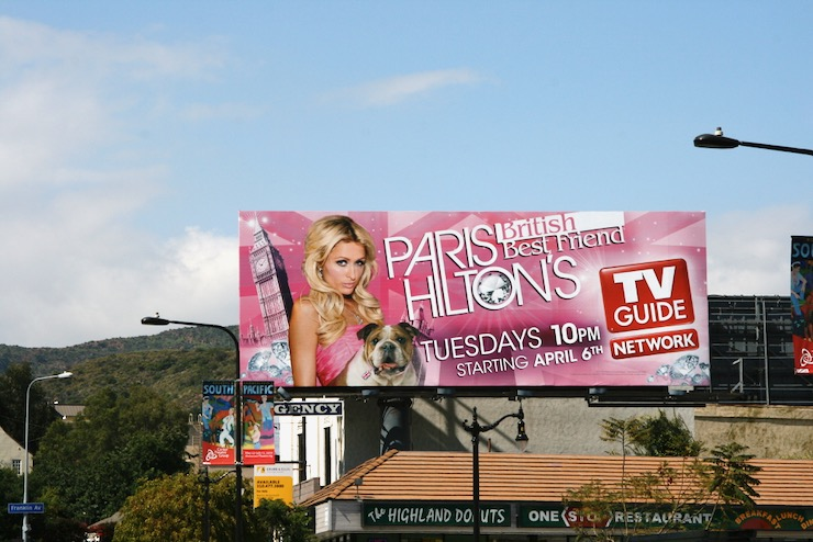 Paris Hiltons British Best Friend billboard