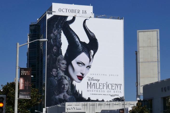Maleficent Mistress of Evil film billboard