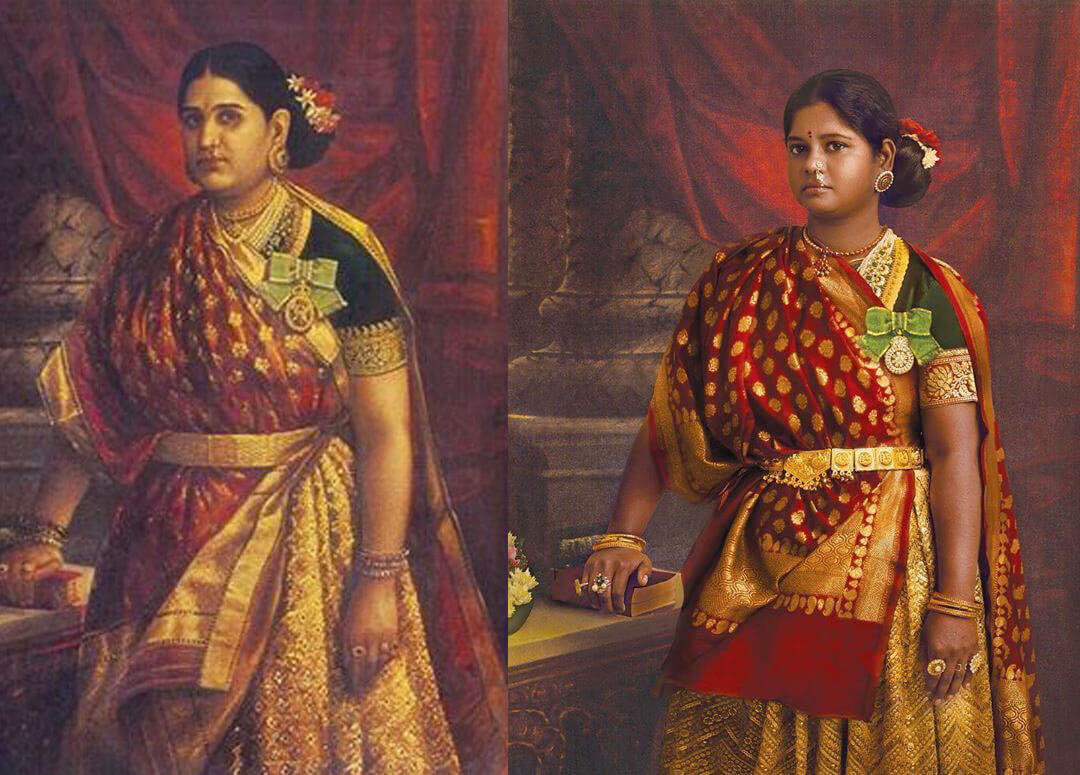 South actresses recreating iconic Raja Ravi Varma paintings for 2020 Calendar. Check out HD pictures! 12