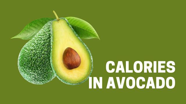 avocado calories half