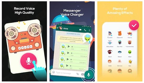 تطبيق تغير الصوت للذكر وانثى والعديد من الأصوات للاندرويد