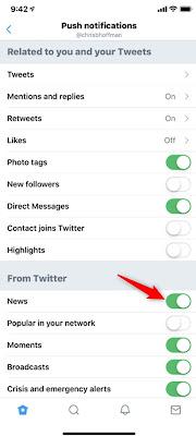 Cara Menonaktifkan Fitur Notifikasi News For You Pada Aplikasi Twitter