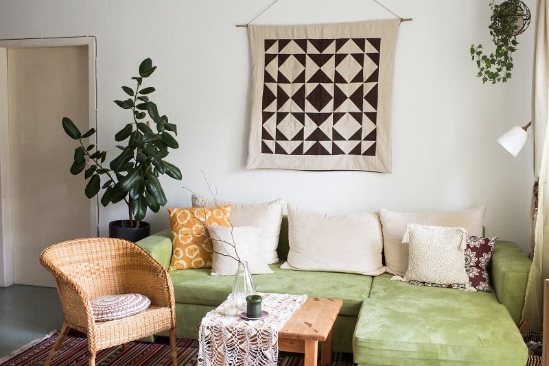Home Tour - Mein Wohnzimmer im Boho-Bohemian-Look - Deko, Textilien selbst gemacht - Interior, Einrichtung selber machen, bauen, basteln, gestalten