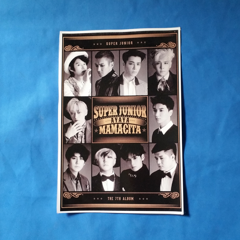 POSTER SUPER JUNIOR UKURAN A3+ CUSTOM MURAH