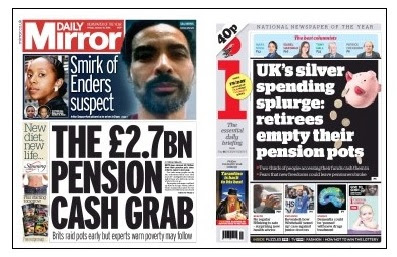 pension front pages