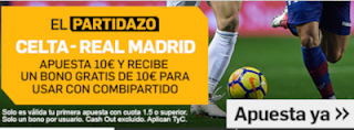 betfair promo Celta vs Real Madrid 11 noviembre